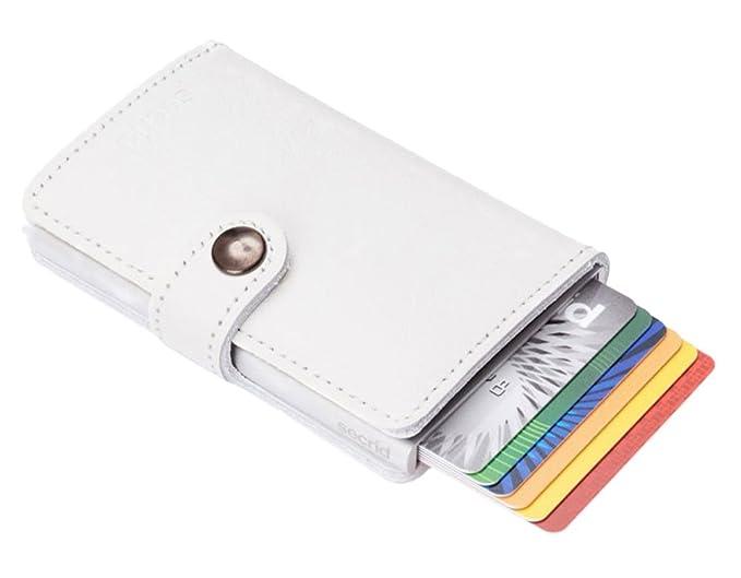 ... Cardprotector - Cartera de piel con tarjetero (protector de tarjetas con identificación por radiofrecuencia), color blanco: Amazon.es: Ropa y accesorios