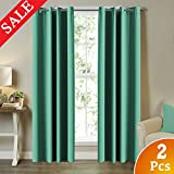 Turquoize Blackout Curtains for Bedroom 96 inches Long (2 Panels, 52 by 96 Inch, Aqua Green) Review