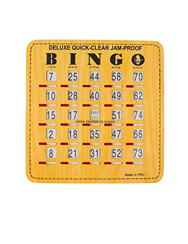 Bingo Slide Cards | Large Print Numbers Shutter Bingo Cards | Reusable | 50 Pack