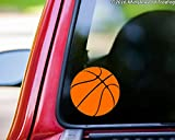 "Minglewood Trading Basketball custom vinyl decal sticker 5"" x 5"" Car Window ORANGE"