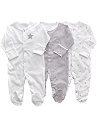Baby Girl Printing Pajamas Footed Sleeper Long Sleeve Cotton Pjs (Newborn-24  Months) · LOSORN ZPY 8f57ba89a