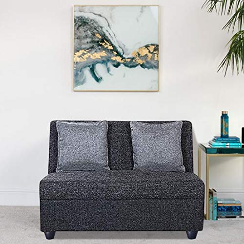 Casastyle   2 Seater Deltamount Fabric Sofa Set  Grey