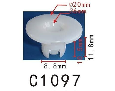 Grapa de sujeción de nylon tipo pilar, para uso universal (paquete de 20)