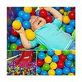 200pcs Ball Pit Balls, Soft Plastic Kids Play Balls BPA Free Crush Proof Ocean Balls For Baby Toddler Ball Pit, Kiddie Pool, Indoor Playpen Parties