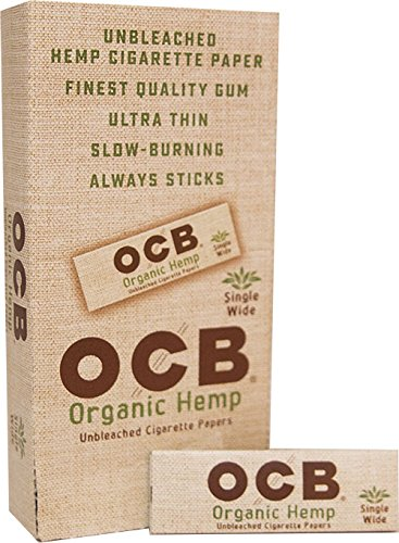 - OCB Organic Hemp Rolling Papers Single Wide Size - Full Box (24 Books)