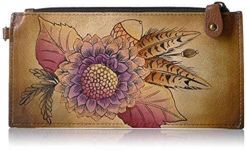 Anna by Anuschka Organizer Wallet   Genuine Leather   Rustic Bouquet
