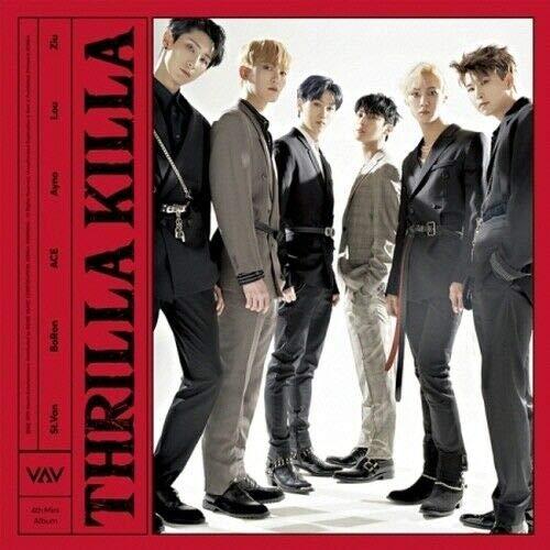 VAV - [Thrilla Killa]4th Mini Album CD+88p PhotoBook+1p PostCard+1p PhotoCard+Tracking K-POP Sealed