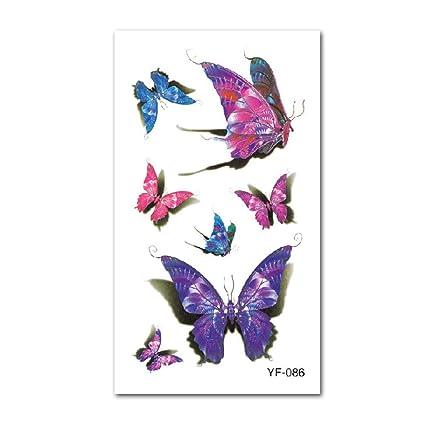 Etiqueta engomada del tatuaje de 9 piezas Etiqueta engomada del ...