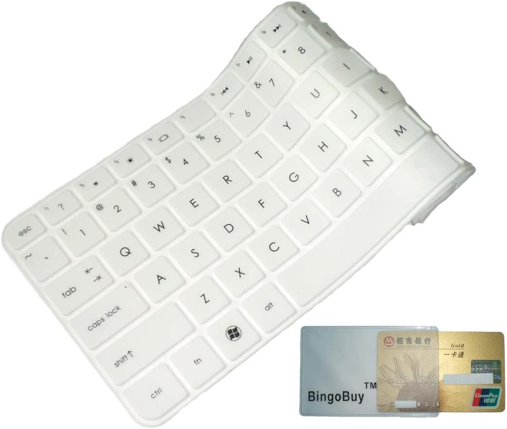 """BingoBuy White Ultra Thin Soft Silicone Keyboard Protector Skin Cover for LENOVO IBM ThinkPad Edge E530, E530C, E531, E535, E540, E550, E555, T540P, T550, W540, W541, W550s, L540, Yoga 15(if your """"enter"""" key looks like """"7"""", our skin can't fit) with BingoBuy Card Case for Credit, Bank, ID Card"""