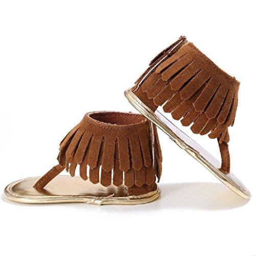 Zapatos de bebé,Auxma Bebé Cuna Zapatos Zapatillas antideslizantes suaves de las zapatillas de deporte del bebé para 3-18 meses marrón