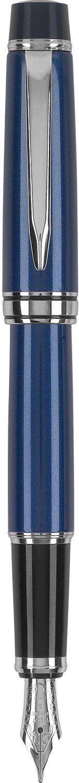 Pilot Stargazer Pearl Lacquer Fountain Pen with Rhodium Accents, Fine Nib, Sapphire Blue Finish (60963)