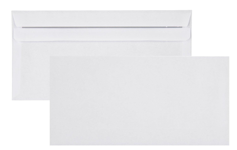 114/x 229/mm Lot de 100/enveloppes DIN long plus blanc sans fen/être autocollant