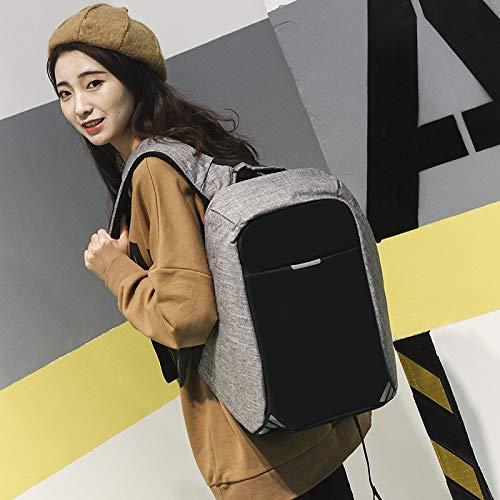 da viaggio carica da per theft Lywljg portatile Zaino computer Anti Double USB computer con viaggio Bag Shoulder D w0YqP6