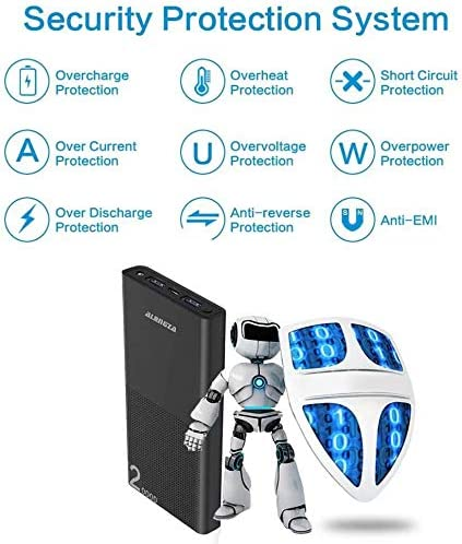 Alongza 20000mah Portable Charger, High Capacity Power Bank for Cell Phone 2 USB Ports External Battery Back Mobile Backup Charger Compatible with iPhone,Samsung, Android and More Smart Devices 51xko4FUCcL