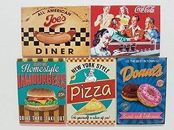 9 x 6.5 cm am/éricain diner chien tendance COLA burger pizza Donut Nouveaut/é Aimant de r/éfrig/érateur ENSEMBLE-CADEAU ENSEMBLE-CADEAU P Magnet