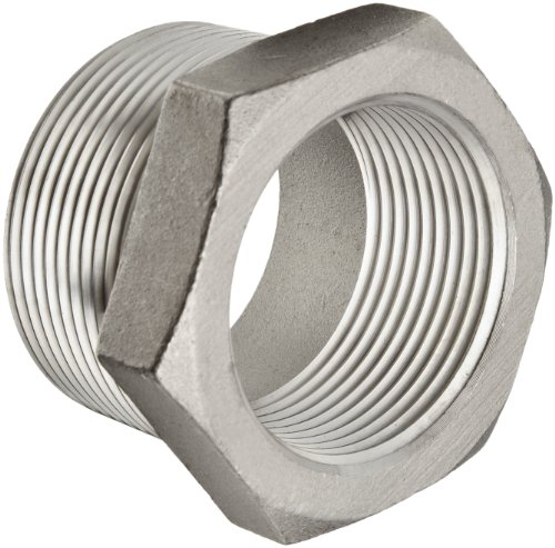 4 Pipe 3 Steel - Stainless Steel 316 Cast Pipe Fitting, Hex Bushing, Class 150, 4