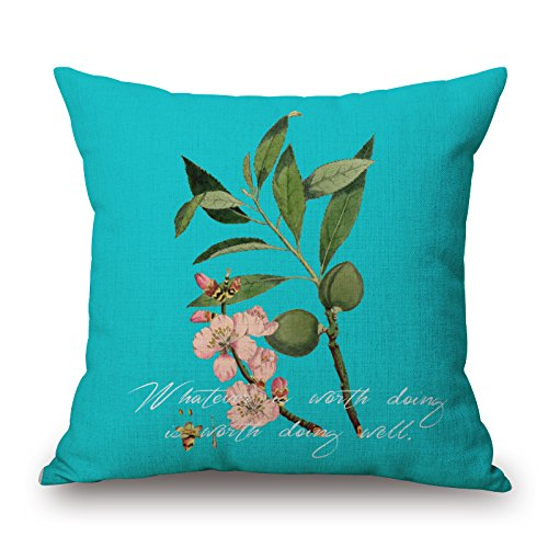 Bestseason Plant Throw Pillow Covers 20 X 20 Inches / 50 By 50 Cm Best Choice For Home Office,bar,living Room,club,wedding,home With Two Sides