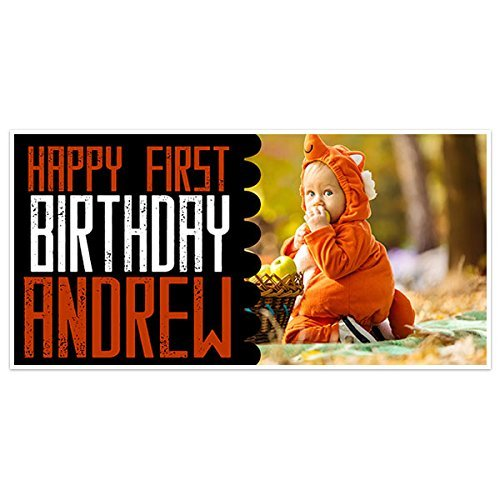 Fall Colors First Birthday Banner Party Decoration Backdrop