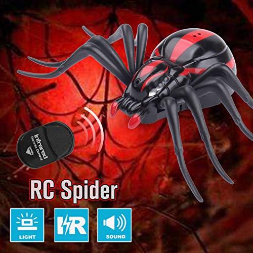 WOSOSYEYO Mando a Distancia por Infrarrojos RC Realista araña Insectos Broma Truco de Juguete de Regalo de Miedo