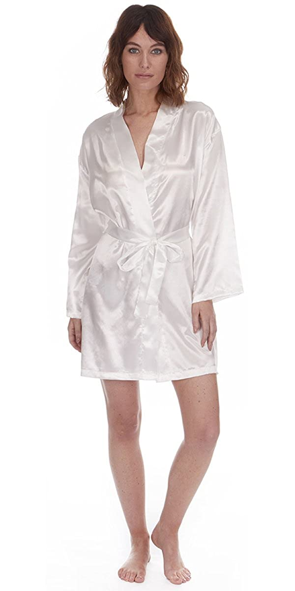 4630290a2a Cookies and Cream Ladies Satin Silk Pyjama Set Silky Lounge Pajamas  Dressing Gown Robe Summer New  Amazon.co.uk  Clothing