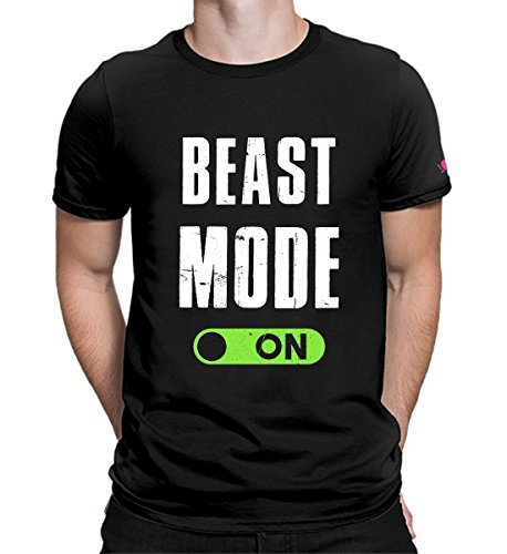 PrintOctopus Graphic Printed T-Shirt for Men & Women | Beast Mode Tshirt | Gym Tshirt | Half Sleeve T-Shirt | Round Neck T Shirt | 100% Cotton T-Shirt | Short Sleeve T Shirt