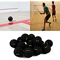 Forfar Competencia de pelotas de Squash (Dos Puntos Amarillo baja velocidad oficial bolas de goma Deportes jugador profesional