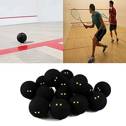 JWBOSS Jugador Profesional Squash Ball Competencia Dos Yellow Dots ...