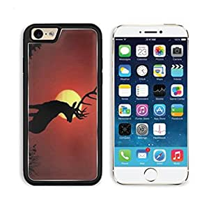 Deer Sunset Buck Alone Silhouette Wildlife Animal Apple iPhone 6 TPU Snap Cover Premium Aluminium Design Back Plate Case Customized Made to Order Support Ready Luxlady iPhone_6 Professional Case Touch Accessories Graphic Covers Designed Model Sleeve HD Te wangjiang maoyi by lolosakes