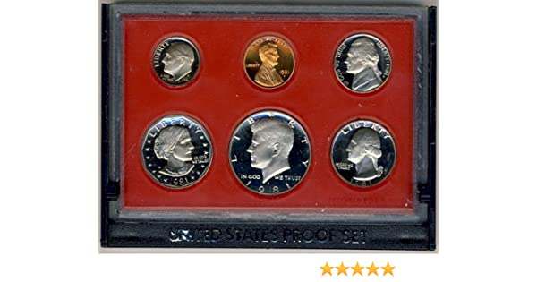 1981 US Mint 6 Coin Proof Set as Issued