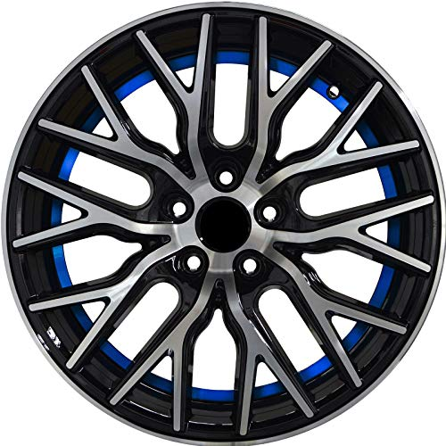 - FLARE - 18 inch Gloss Black with Blue Undercut Rims fits BMW 228i XDrive Coupe AWD 18x8 5x120 ET40 CB74.1