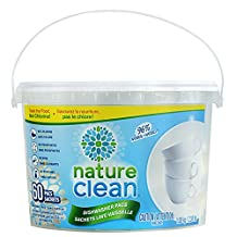 Nature Clean Automatic Dishwasher Pacs, Fragrance-Free, 60 Count