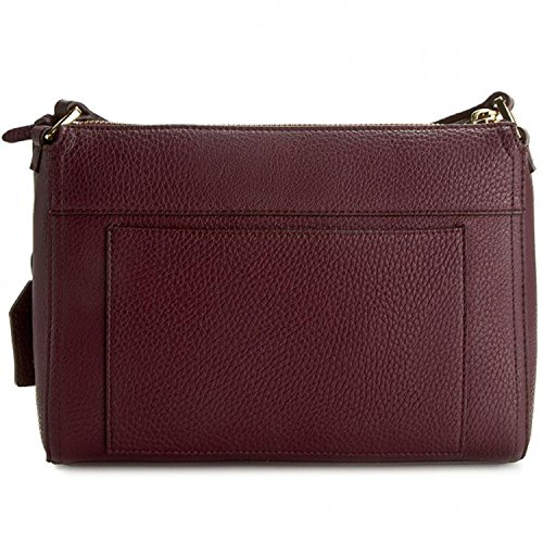 RALPH LAUREN Borsa Brooklyn Crossbody Claret/Dijon