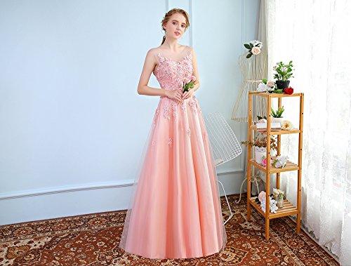 Rose 12 Satin De Sun De Partie Perles Avec Luxe De Robe Soirée De Goddess 12 De Fleur Robes Banquet Dentelle Longues Soirée Sweet Élégante qBqFtwPE