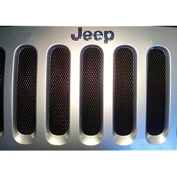 Amazon Com Jeep Wrangler Jk Black Mesh Grille Insert Kit