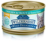 Cheap Blue Wilderness Wild Delights Adult Grain Free Flaked Chicken & Trout In Tasty Gravy Wet Cat Food 3-Oz (Pack Of 24)