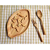 Wooden Food Storage Plate Snacks Nuts Food Serving Tray Fruits Plate Gifts