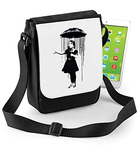 or Digital Girl Reporter Nola Umbrella Tablet Mini Compatible Bag Ipad Banksy p8Ixq