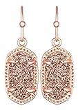 Kendra Scott Women's Lee Earring Rose Gold/Rose Gold Drusy Earring
