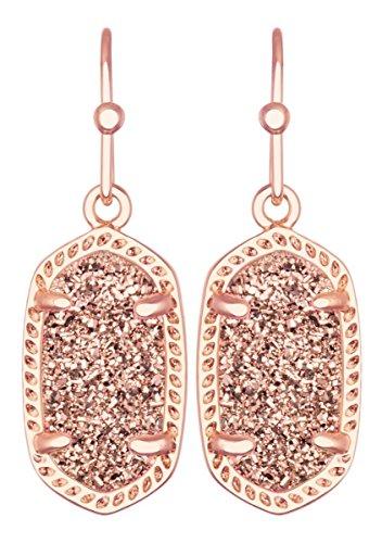 Kendra Scott Women's Lee Earring Rose Gold/Rose Gold Drusy Earring from Kendra Scott