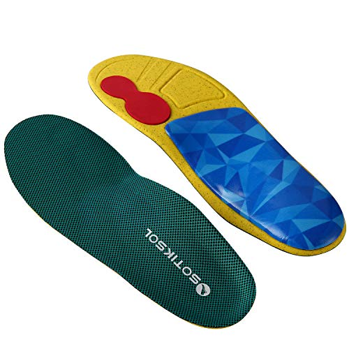 Insoles for Flat feet,Semi-Rigid High Arch Supports,Shock Absorption Orthotics,Anti-Fatigue Work Shoe Inserts/Boots for Plantar Fasciitis,Running,for Men and Women.