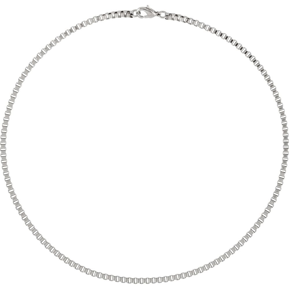 Jewels By Lux Stainless Steel 3mm Box Chain W//Lobster