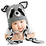 Bellady Baby Infant Cute Crochet Knit Cap Infant Toddler Earflap Hat Photo Prop Costume,Fox