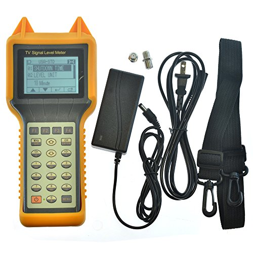 Digital Meter Level Signal (RY-S200 TV Signal Level Meter CATV Cable Testing 46-870MHZ MER BER for both Digital & Analog Signal Measurement)