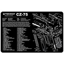 TekMat 11-Inch X 17-Inch Handgun Cleaning Mat with CZ-75 Imprint, Black