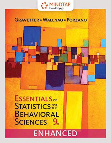MindTap Psychology, Enhanced for Gravetter/Wallnau/Forzano's Essentials of Statistics for the Behavioral Sciences, 9th Edition [Online Code] by Cengage Learning