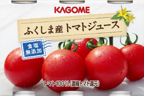 Kagome Fukushima tomato juice salt with no additives (190gX6 cans) X5 pack by Kagome