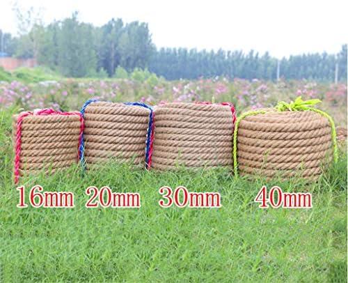 ZHWNGXO DIY Seil, 28mm Verdrehte Sisalseil Wear Resistant (braun) for Betriebsaufhänger Wandbehang Korrosionsschutz (Size : 40m)