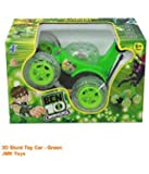 3D Remote Car for Kids Without Wire/Wireless Multiple Remote Color Green Rechargeable Ben 10 Stunt Car with Remote Control by JMK Toys
