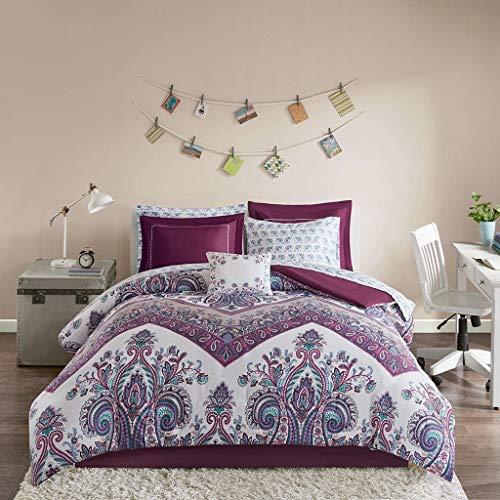 - Modern Living Purple Boho Damask Elephant Girls Full Comforter & Sheet Set (9 Piece Bed in A Bag)