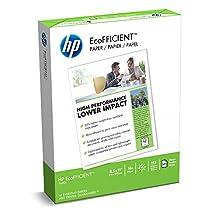 HP Paper, EcoFFICIENT Copy, 16lb, 8.5 x 11, Letter,  92 Bright, 625 Sheets / 1 Ream (216000)